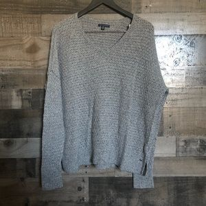 American Eagle Knit V-Neck Oversized Sweater